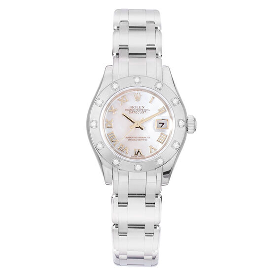 Pre-Owned Rolex Oyster Perpetual Lady Datejust-Pearlmaster Watch, 29mm, 18K