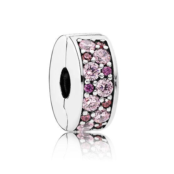PANDORA Mosaic Shining Elegance Pink & Purple Clip