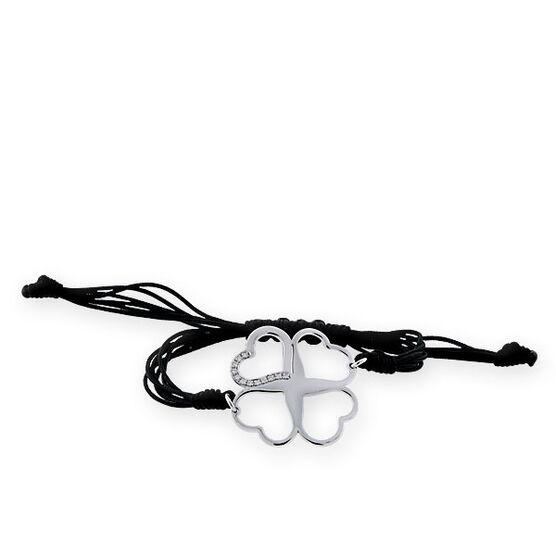 Open Four Leaf Clover Bracelet in Sterling Silver