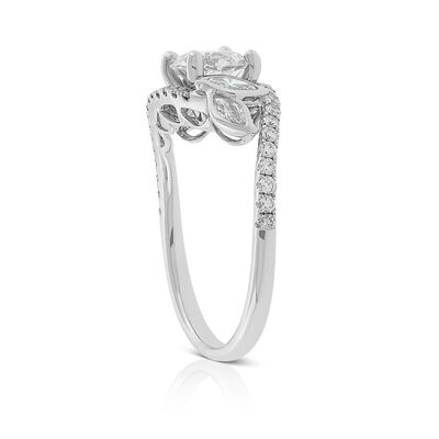 Ikuma Canadian Diamond Leaf Ring 14K