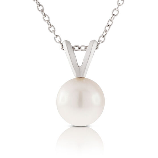 Akoya Cultured Pearl Pendant 7mm, 14K
