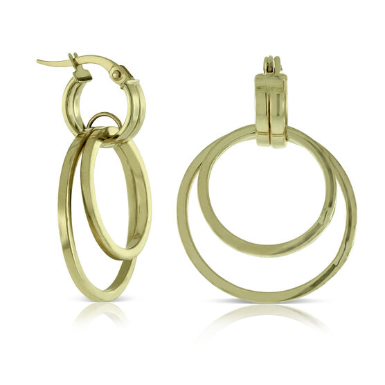 Double Circle Earring 14K