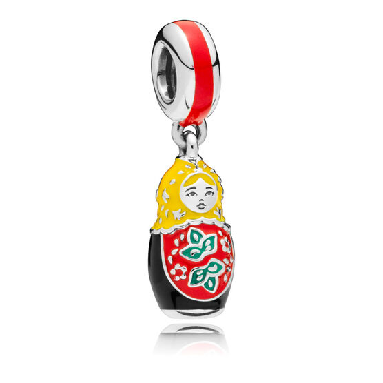 PANDORA Matryoshka Doll Enamel Dangle Charm