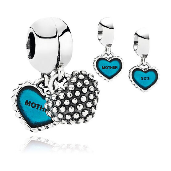 PANDORA Blue Piece Of My Heart Charm