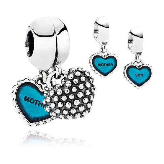 PANDORA Blue Piece Of My Heart Charm