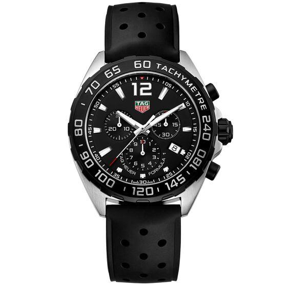 TAG Heuer Formula 1 Quartz Mens Black Rubber Chronograph Watch