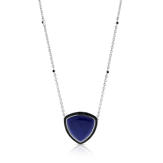 Lisa Bridge Lapis Lazuli & Black Sapphire Necklace