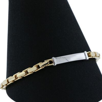 "Toscano ID Bracelet 14K, 8.5"""