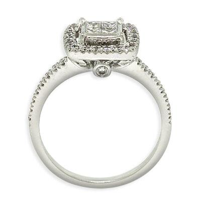 Square Diamond Halo Bridal Set 14K