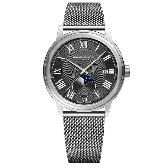 Raymond Weil Maestro Moon Phase Automatic Watch, 40mm
