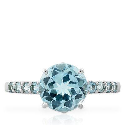 Blue Topaz Ring 14K