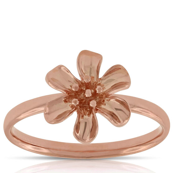 Rose Gold Flower Ring 14K