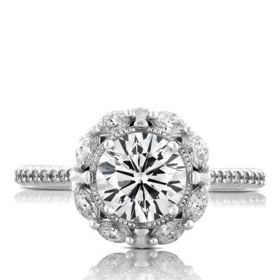 Signature Forevermark Diamond Engagement Ring 18K, 1.51 Center