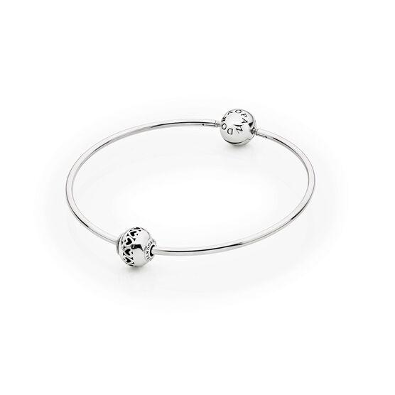 PANDORA ESSENCE Bangle Bracelet with LOVE Charm