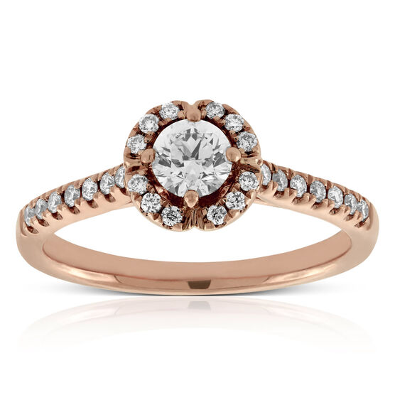 Rose Gold Ikuma Canadian Diamond Engagement Ring 14K