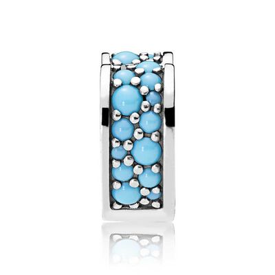 Pandora Arcs of Love Blue Crystal Clip