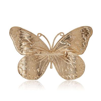 Toscano Blue & Green Enamel Butterfly Pin 14K