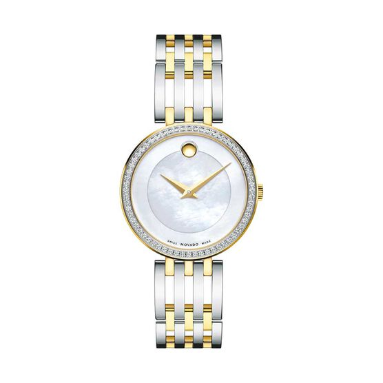 Movado Esperanza Diamond & Mother of Pearl Two-Tone PVD Watch