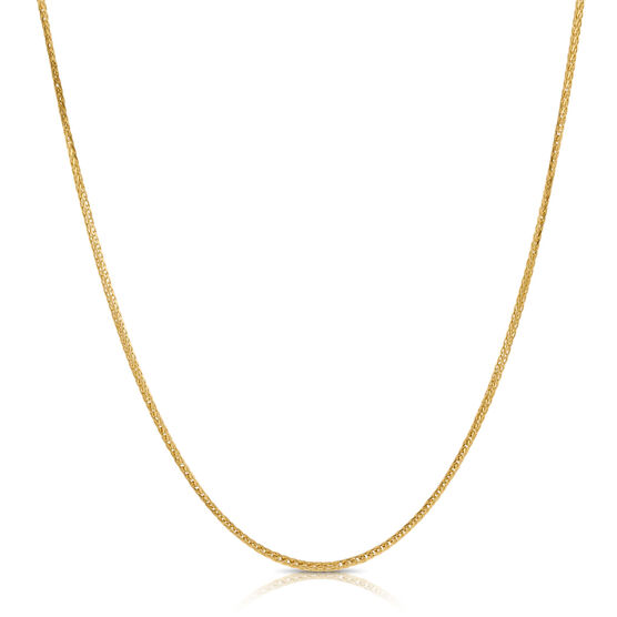 Diamond Cut Spiga Chain 14K, 18""