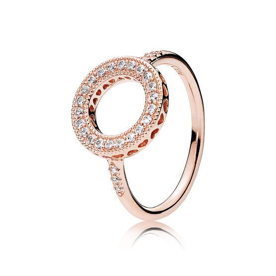 Pandora Rose™ Hearts of Pandora Halo CZ Ring