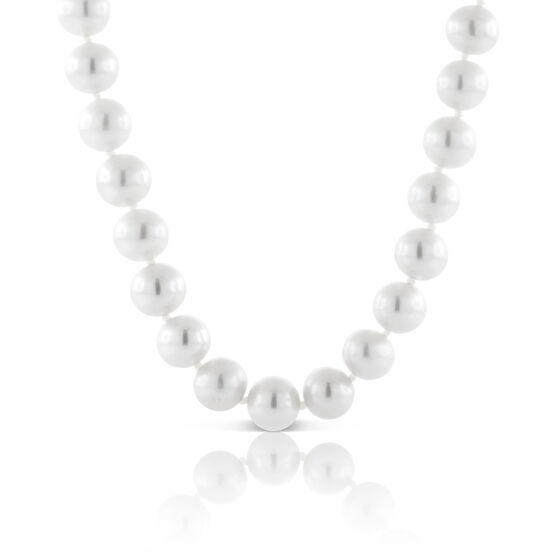 """Cultured Freshwater 8mm Pearl Strand 14K, 18"""""""