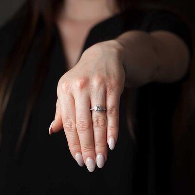 Diamond Halo Ring 14K, 1 ctw.