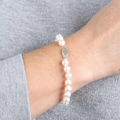 Cultured Freshwater Pearl Bracelet 14K