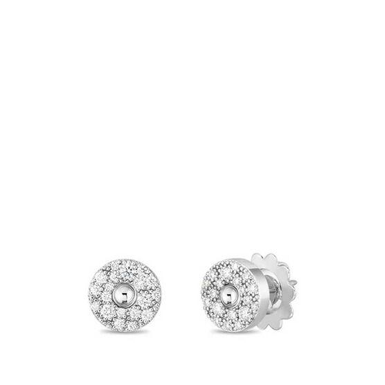 Roberto Coin Pois Moi Luna Diamond Stud Earrings 18K