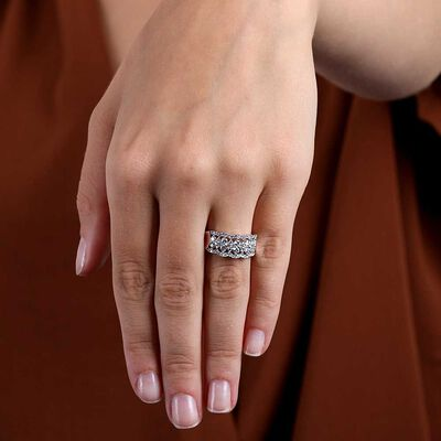 Openwork Scalloped Diamond Ring 14K