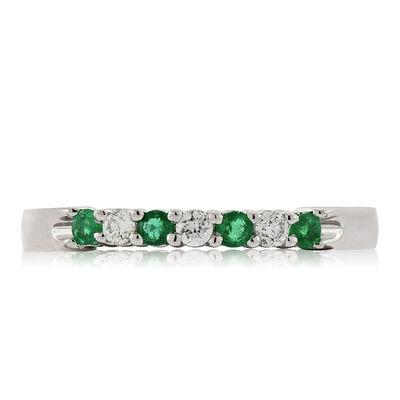 Delicate Emerald & Diamond Ring 14K