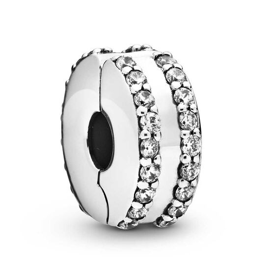 Pandora Double Lined Pavé Clip Charm