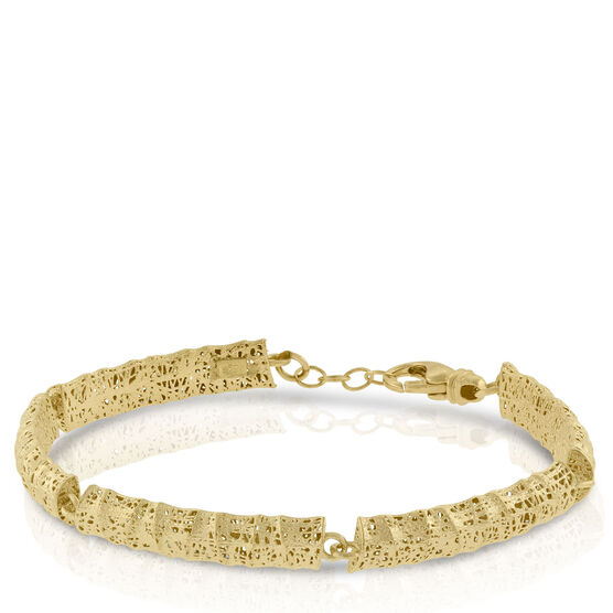 Toscano Curved Microfusion Bracelet 14K