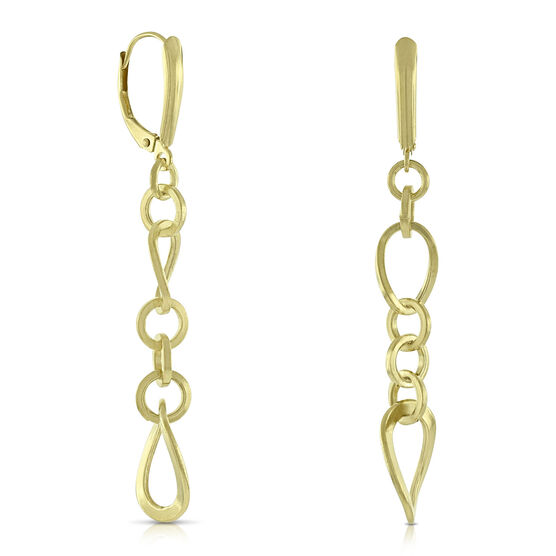 Chain Link Drop Earrings 14K