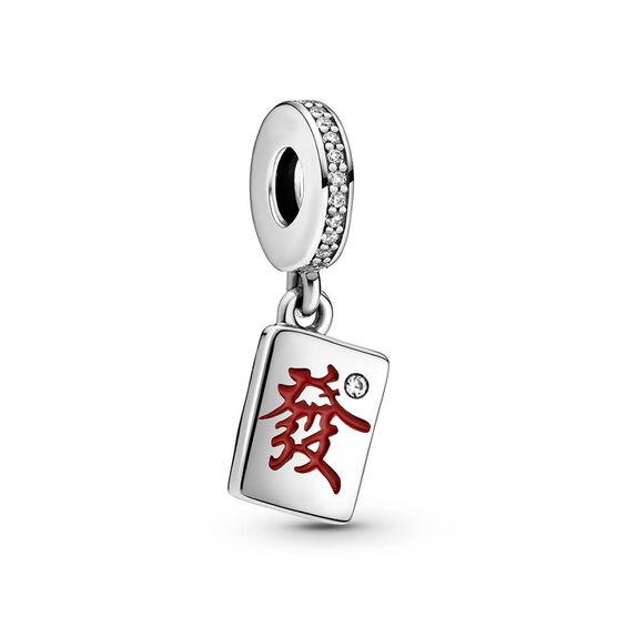 Pandora Mahjong Enamel & CZ Dangle Charm