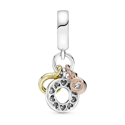 Pandora Shine™ Pandora Rose™Triple Monogram & Logo CZ Dangle Charm