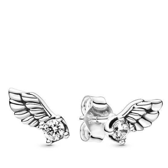 Pandora Sparkling Angel Wing CZ Stud Earrings