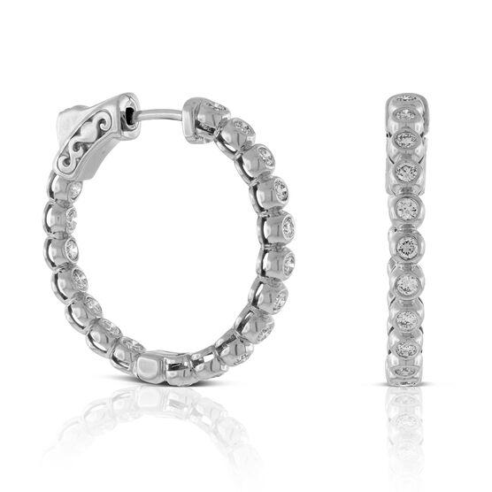 Diamond Hoop Earrings 14K, 3/4 ctw.