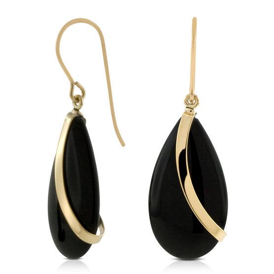 Onyx Earrings 14K