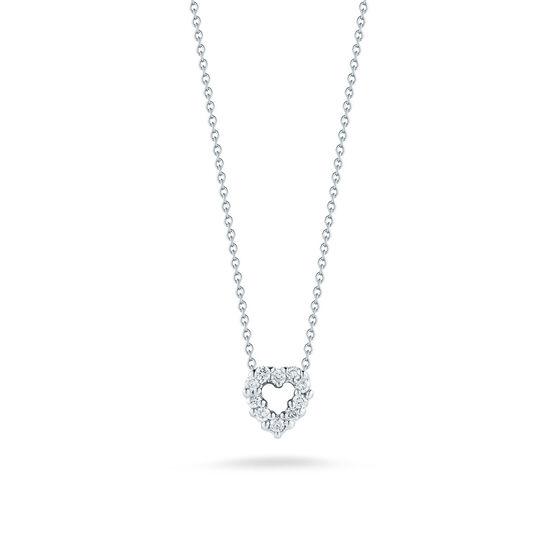 Roberto Coin Tiny Treasures Diamond Heart Necklace 18K