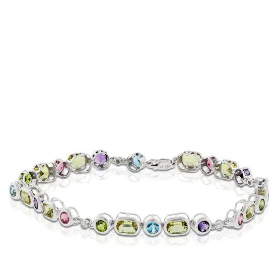 Multi Gemstone & Diamond Bracelet 14K