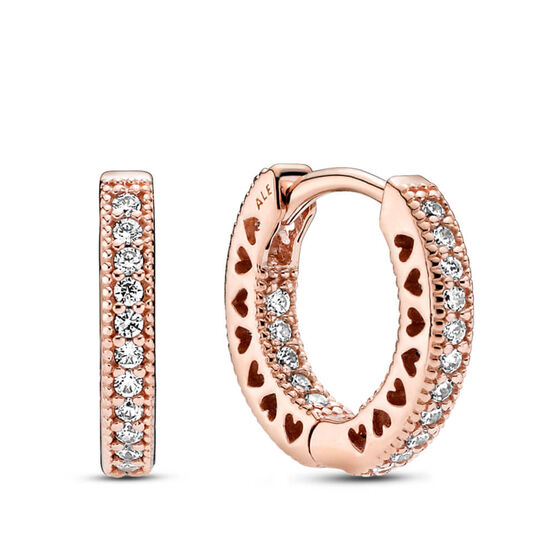 Pandora Rose™ Pavé CZ Heart Hoop Earrings