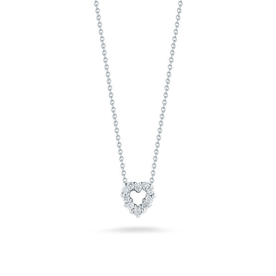 Roberto Coin Tiny Treasures Diamond Heart Necklace 18K