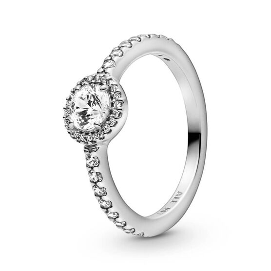 Pandora Classic Sparkle Halo CZ Ring
