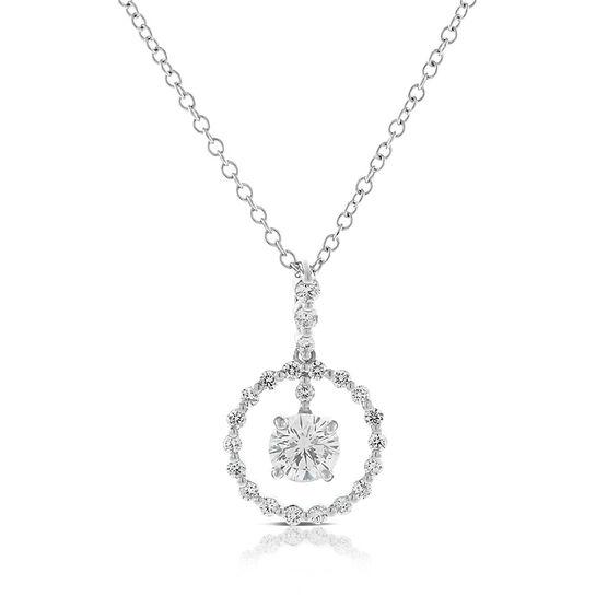 Signature Forevermark Swinging Diamond Circle Necklace 18K