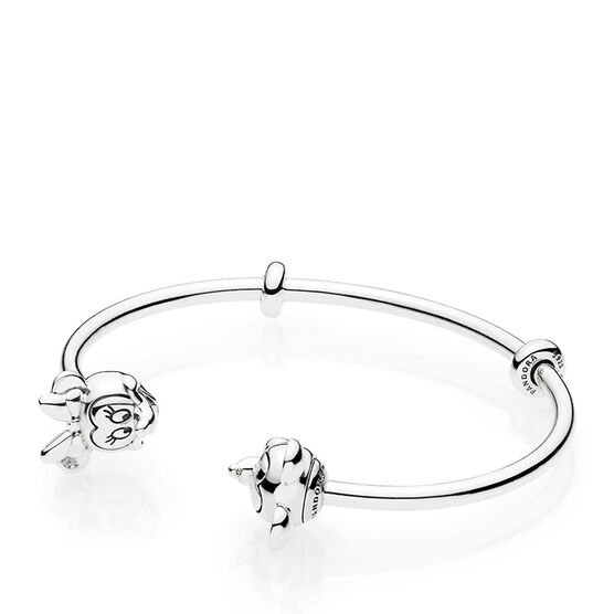 Pandora Disney, Mickey & Minnie Open Bangle Bracelet