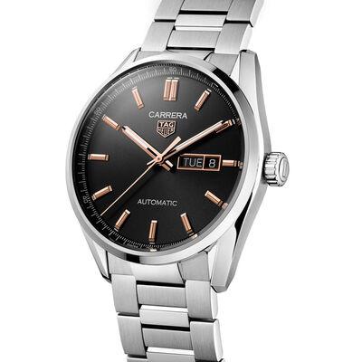 TAG Heuer Carrera Calibre 5 Auto Black Steel Watch, 41mm