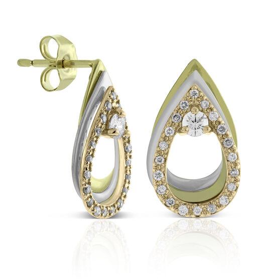 Ikuma Canadian Diamond Open Teardrop Earrings 14K