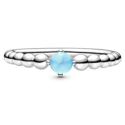 Pandora Purely Pandora Sky Blue Topaz Beaded Ring