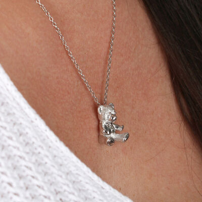 2017 Benny Bear Pendant in Sterling Silver