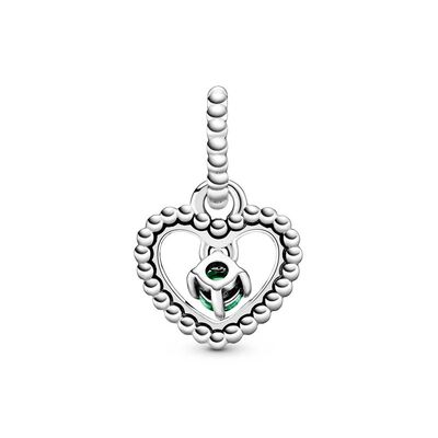 Pandora Purely Pandora Rainforest Green Crystal Beaded Heart Dangle Charm